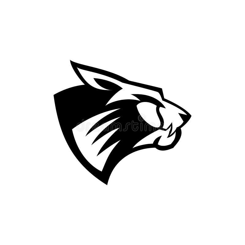 Cheetahhead loga wektoru ilustracja ilustracja wektor