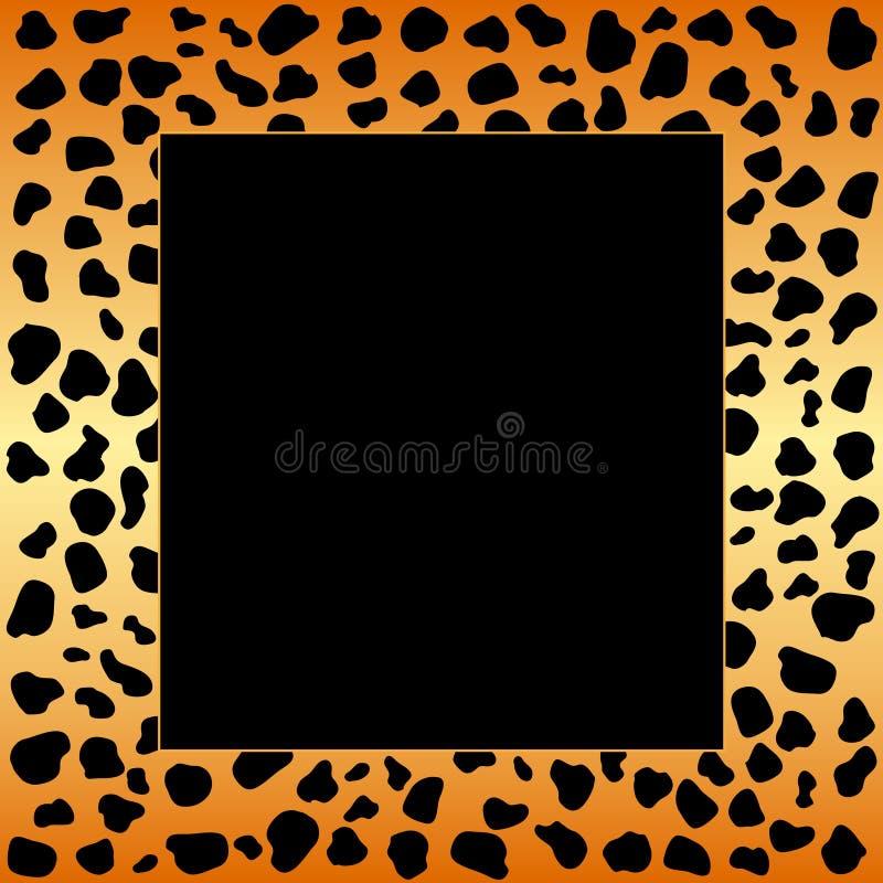 cheetahramfläckar stock illustrationer