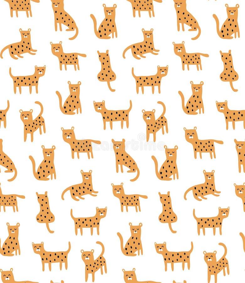 Cheetaj mit Gesichtsmuster vektor abbildung