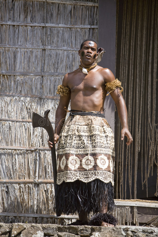 Chef 1585 du Fiji image libre de droits