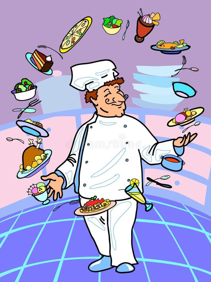 Download Chef stock vector. Image of cake, juggling, gourmet, food - 16706434