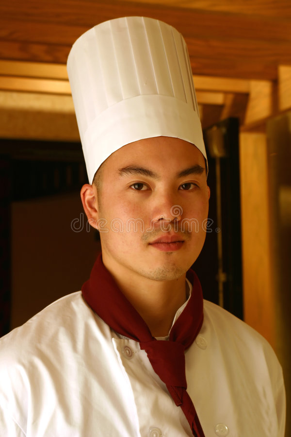 Chef. Portrait of a chef in uniform