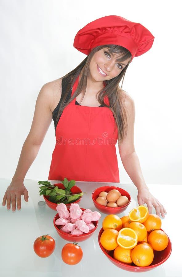 Download Chef #7 de femme photo stock. Image du repas, cuisinier - 8658682
