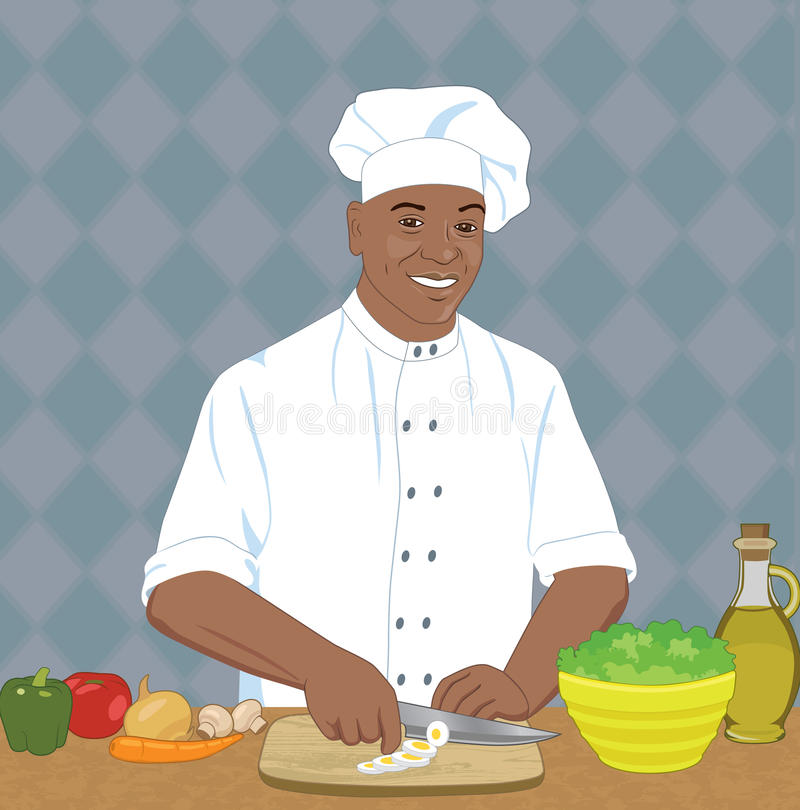 Chef illustration de vecteur