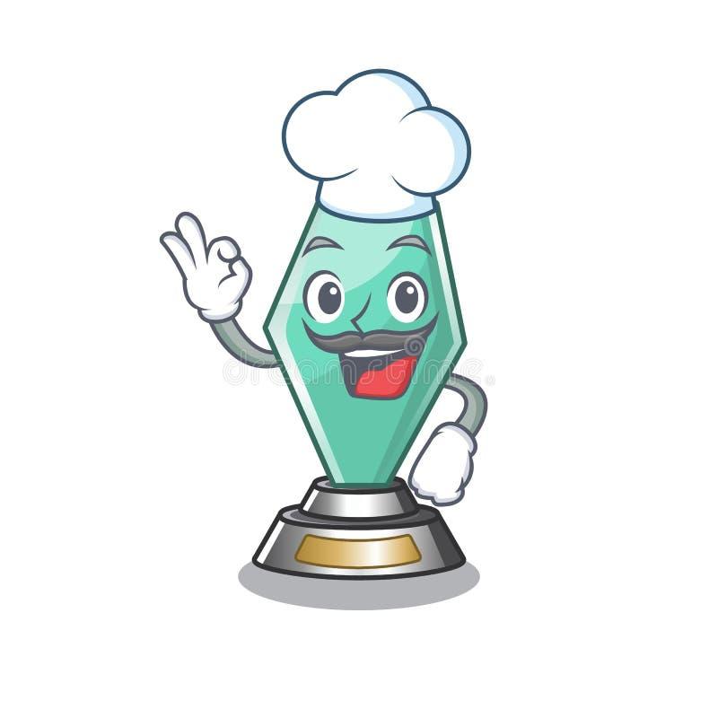 Chef acrylic trophy wyizolowany maskotem ilustracji