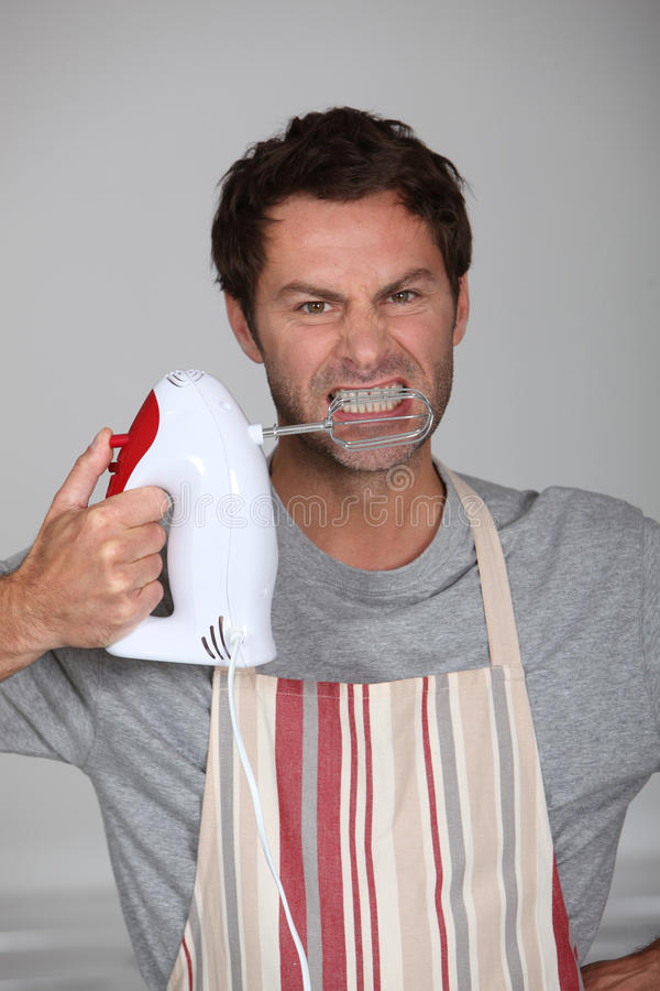 Chef agressif images stock
