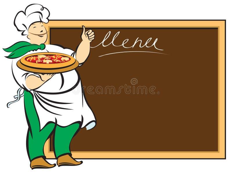 Chef avec la carte illustration stock