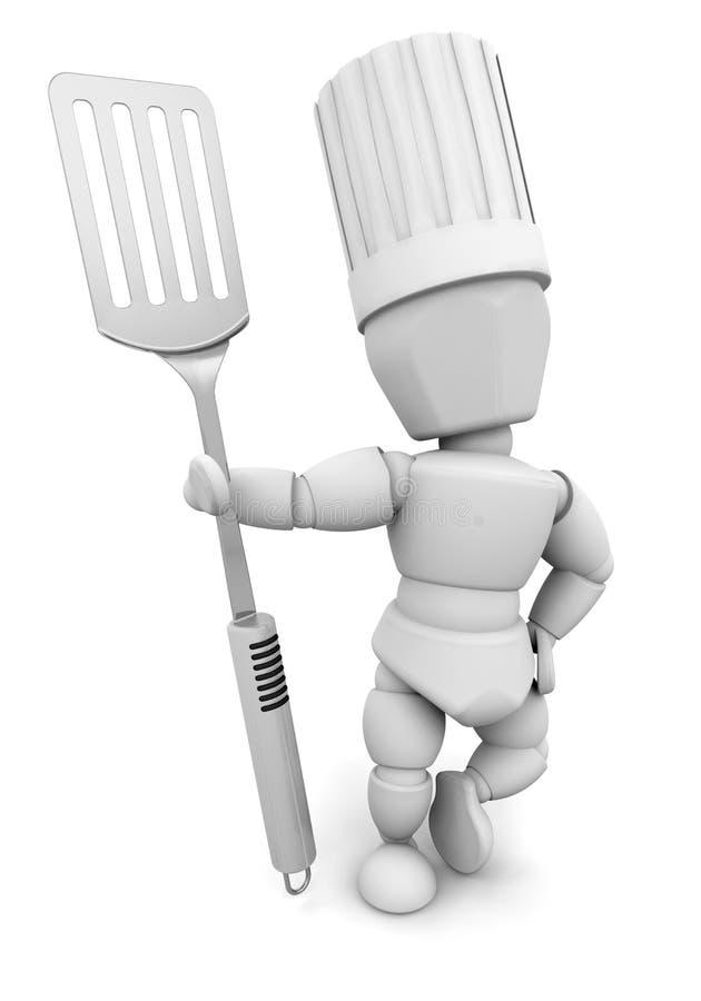 Chef avec la spatule illustration libre de droits