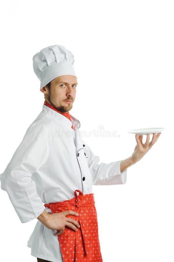 Chef avec un paraboloïde photo stock