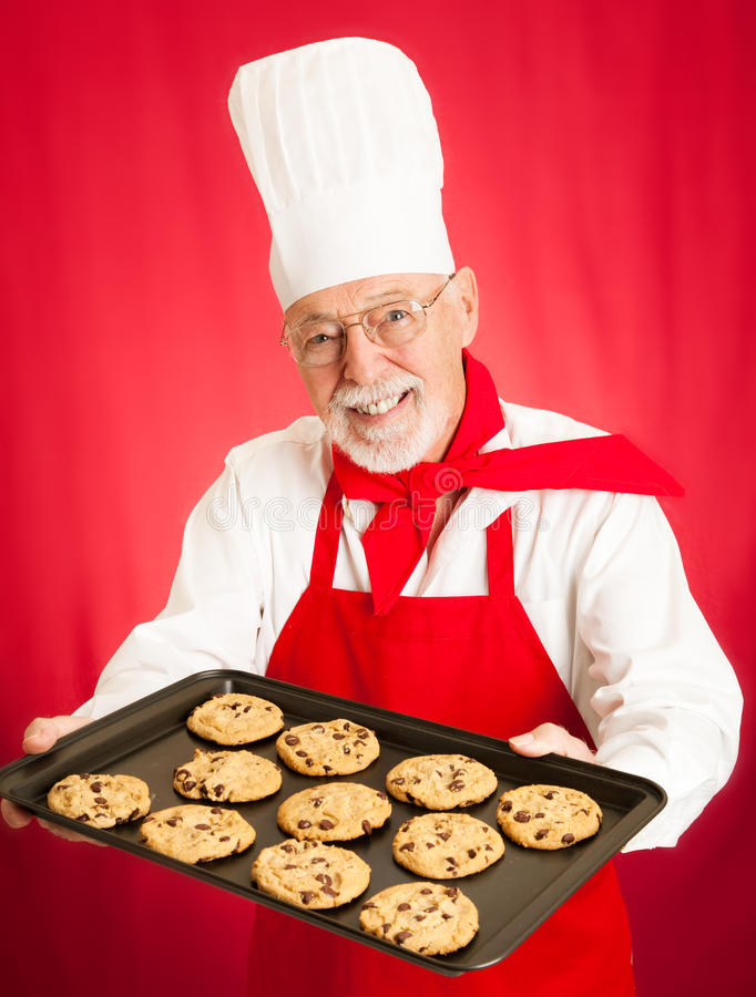 Download Chef Bakes Cookies Royalty Free Stock Photos - Image: 27205138