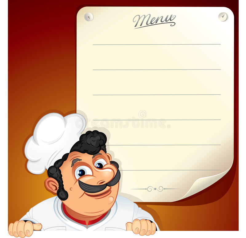 Download Chef with Blank Menu stock vector. Illustration of food - 20755543