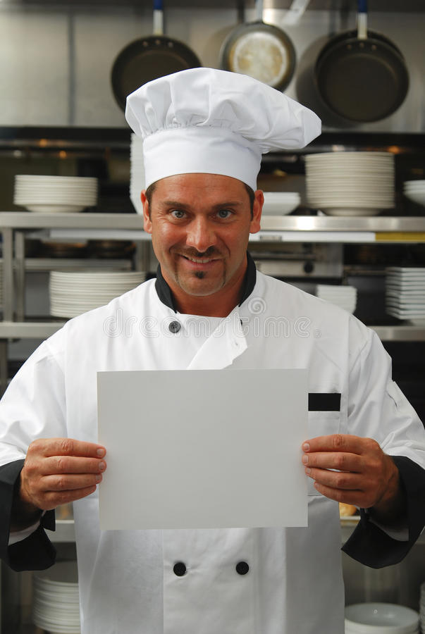 Download Chef With Blank Sign Royalty Free Stock Image - Image: 13513826