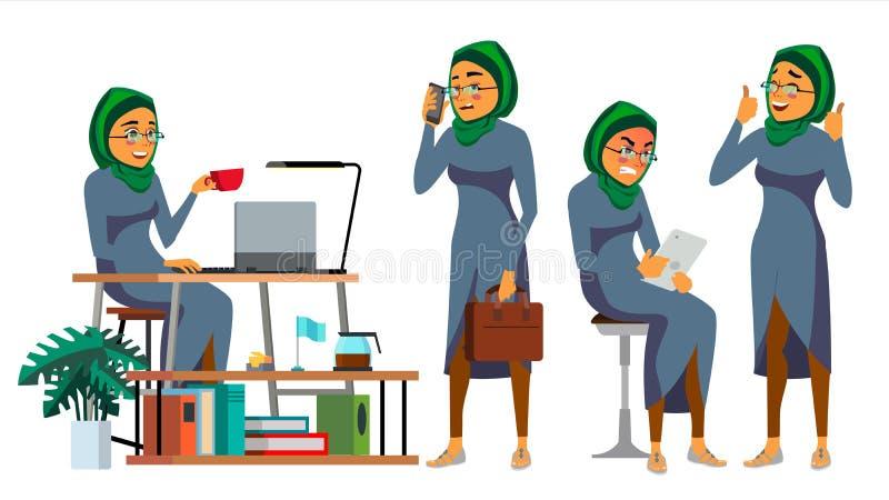 Chef CEO Character Vector IT-Start-Unternehmen Körper-Schablone für Design Verschiedene Haltungen, Situationen karikatur vektor abbildung
