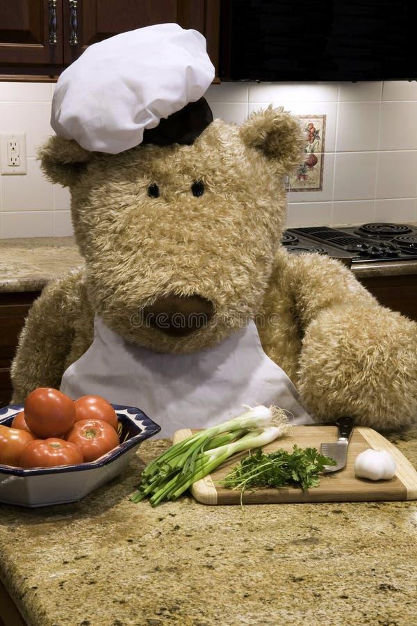Chef Chopping stock image
