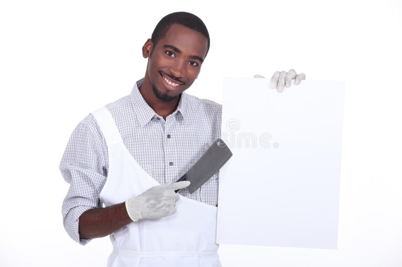 Download Chef with a cleaver stock image. Image of cuisine, handsome - 27915691