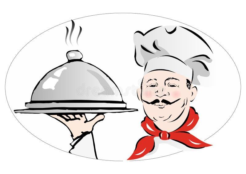 Chef_cook ilustração royalty free