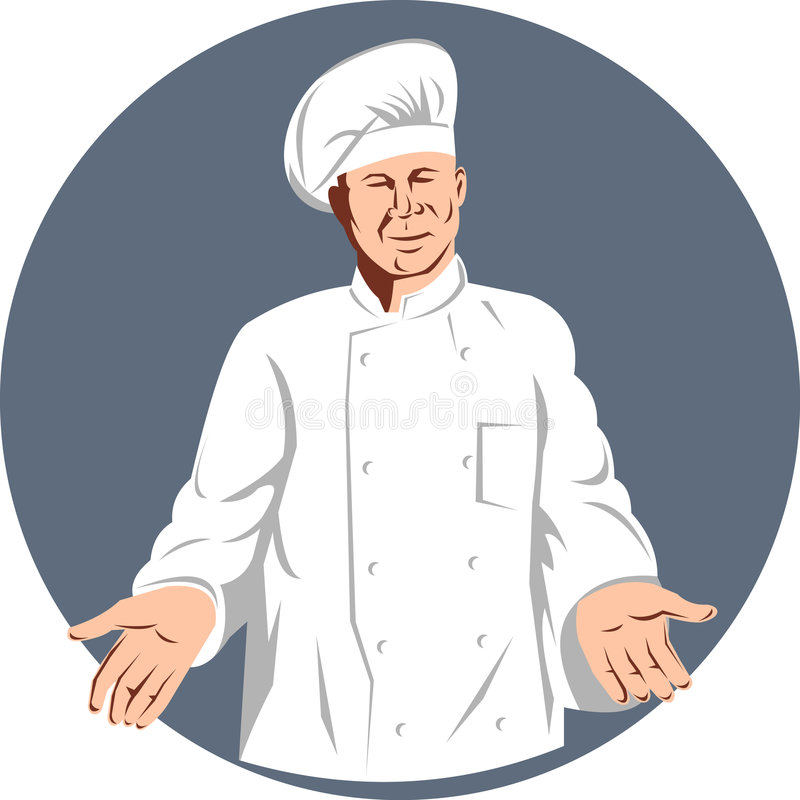 Download Chef cook stock vector. Image of cook, finger, welcome - 9187938