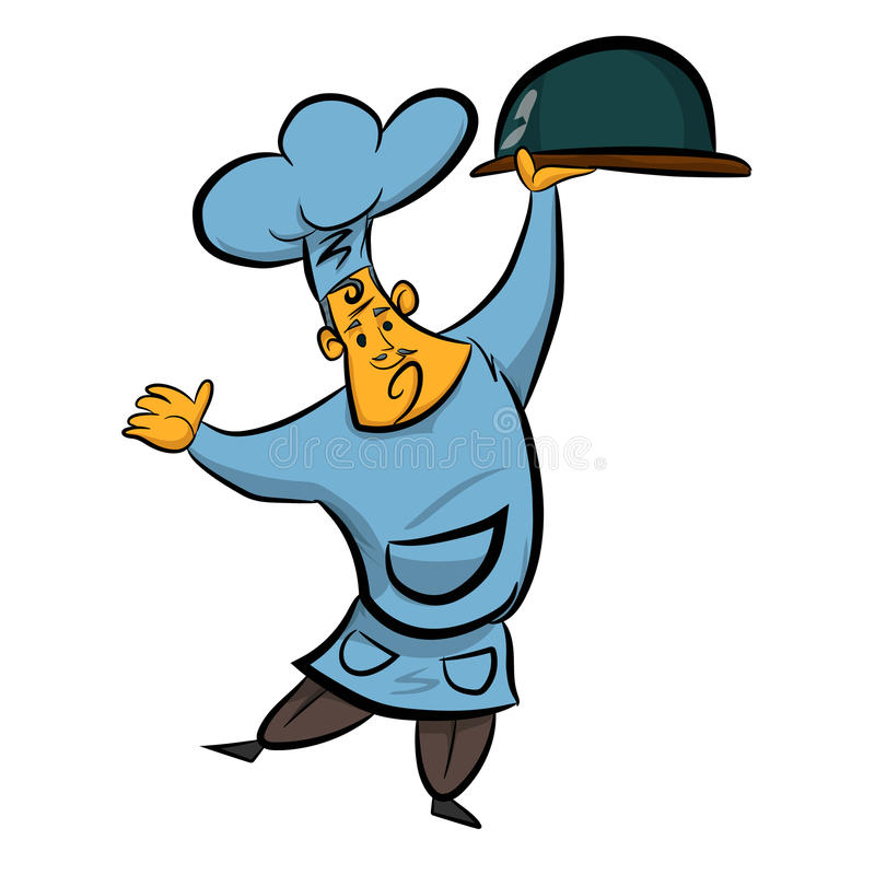 Chef cook. Cartoon smile color stock illustration