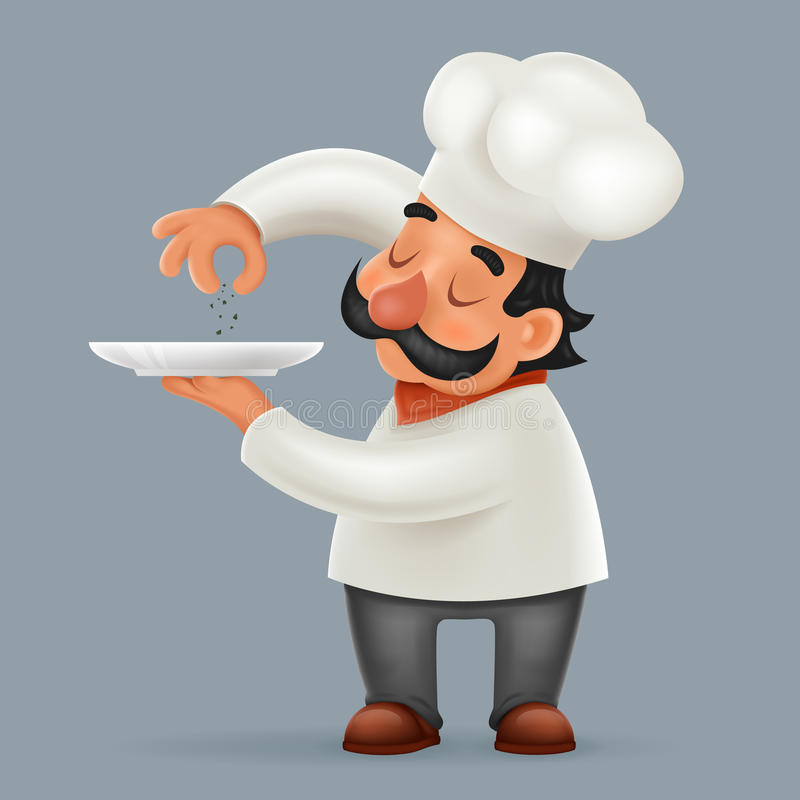 Cartoonsmart Character Design With Illustrator : Chef cook serving food d realistic cartoon character