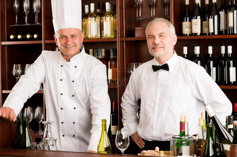 Download Chef Cook And Waiter Restaurant Wine Bar Stock Photo - Image: 23125556