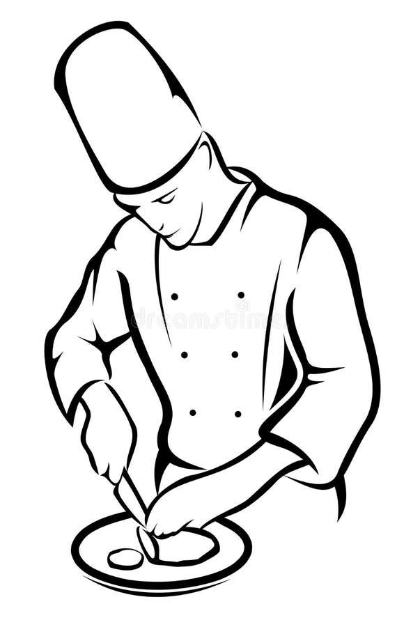 Chef Cooking illustration de vecteur