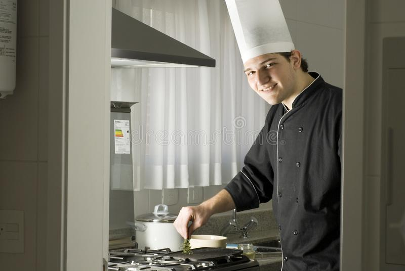 Chef Cooking stock image