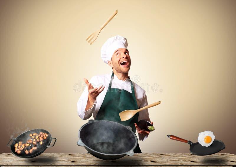 Chef Cooking lizenzfreies stockfoto