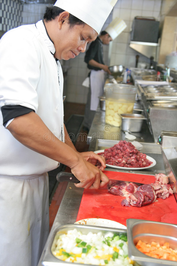 Download Chef cooking stock photo. Image of cook, hotel, occupation - 7586076