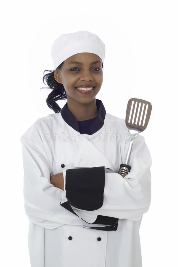 Chef and cooking utensil royalty free stock photography