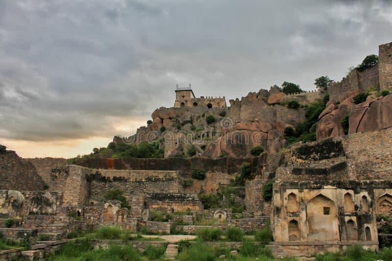Chef d'oeuvre historique de fort de Golkonda image stock