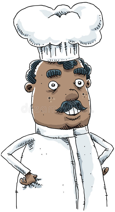 Chef de bande dessinée illustration de vecteur
