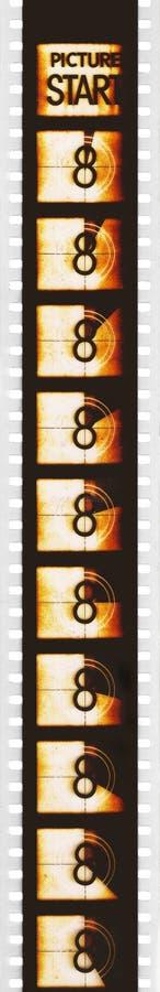 Chef de compte à rebours de film de cinéma images stock