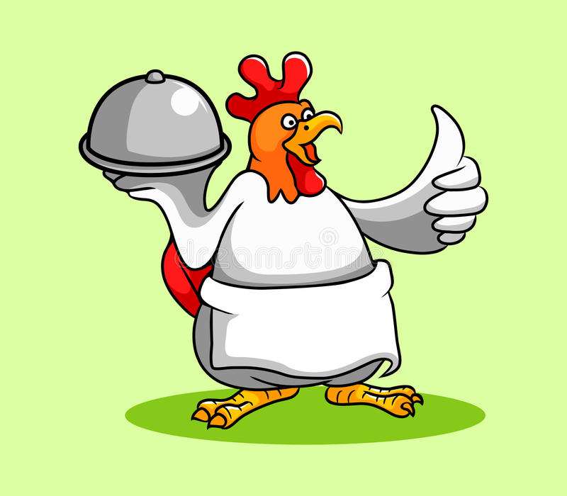 Chef de coq illustration stock