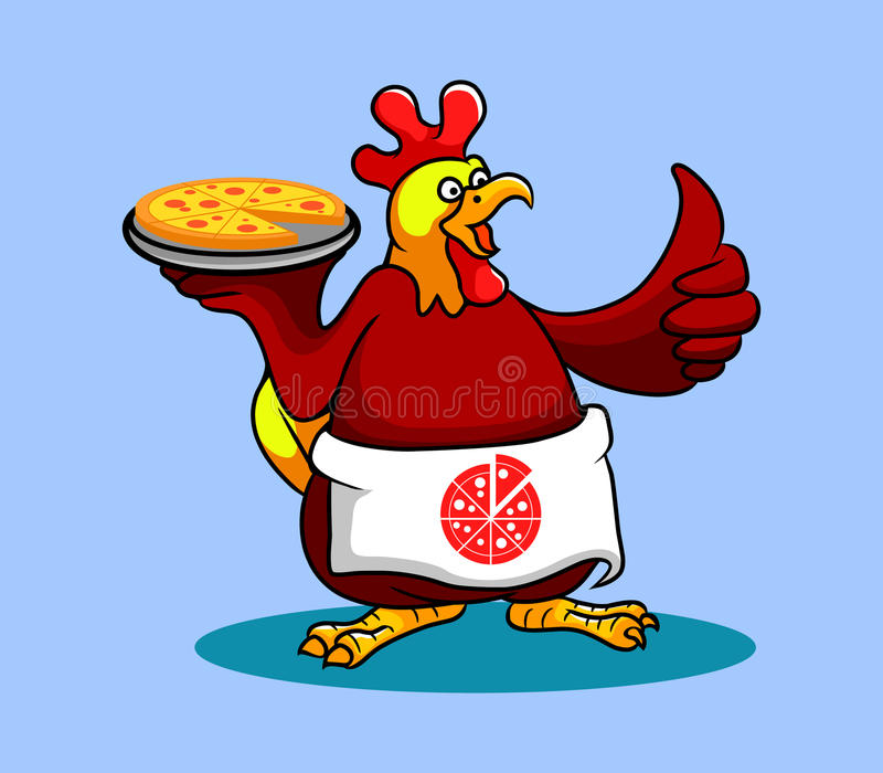Chef de coq (pizza) illustration stock