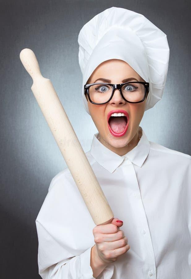 Chef de cuisinière de femme image stock