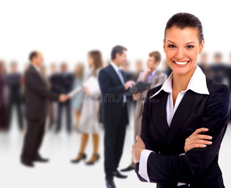 Chef de file des affaires féminin photo stock