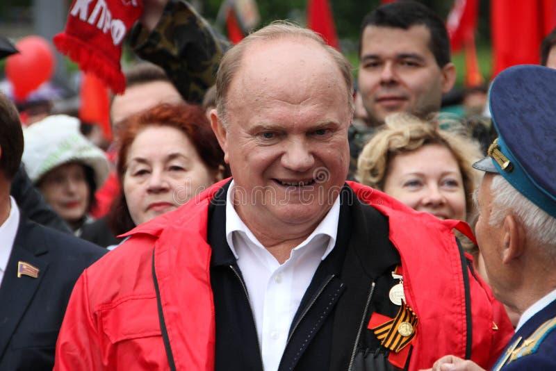 Chef de parti communiste de la Russie Gennady Zyuganov image stock