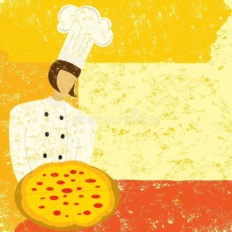 Chef de pizza illustration de vecteur