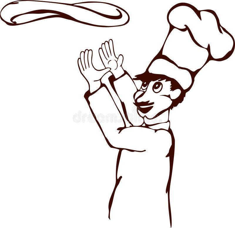 Chef de pizza image stock