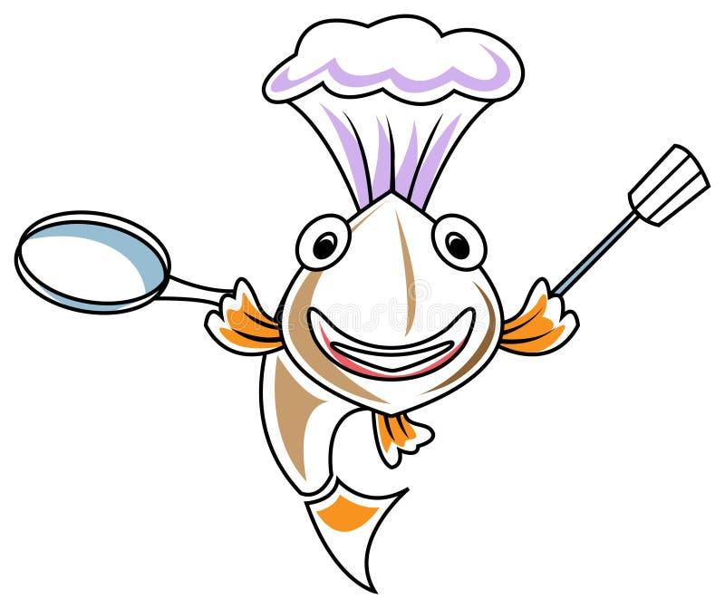 Chef de poissons illustration de vecteur