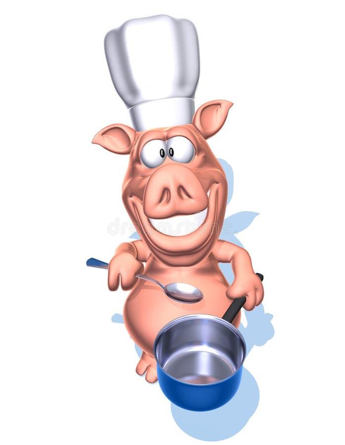 Chef de porc illustration libre de droits