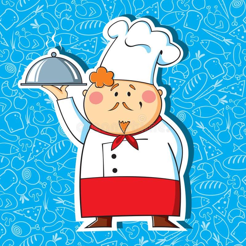 Chef de restaurant illustration de vecteur