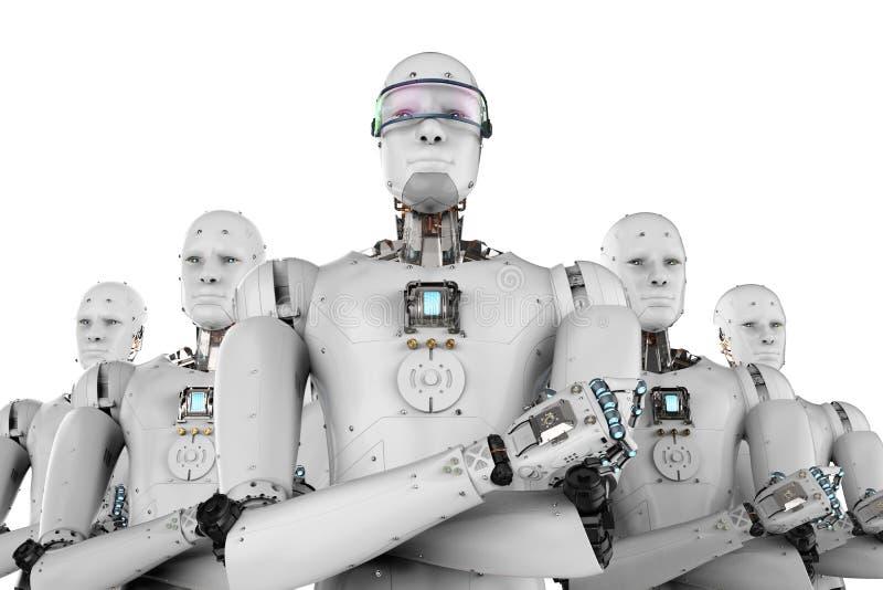 Chef de robot avec l'équipe