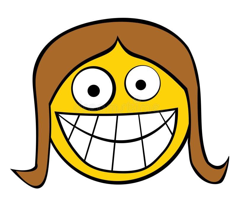 Chef de sourire de fille illustration de vecteur
