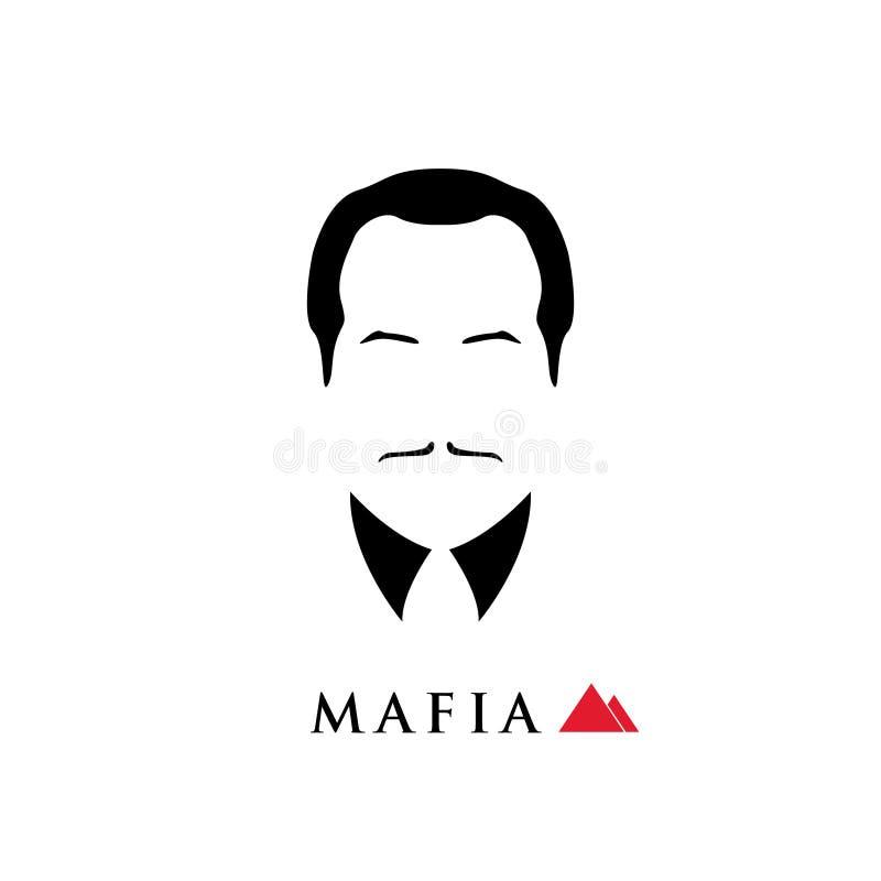 Chef der italienischen Mafia lizenzfreie abbildung