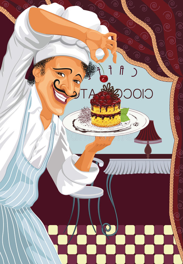 Chef With Dessert Royalty Free Stock Photos