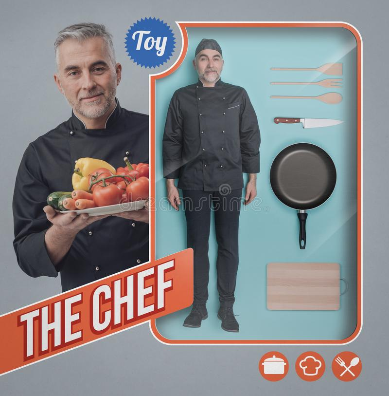 The chef doll stock image