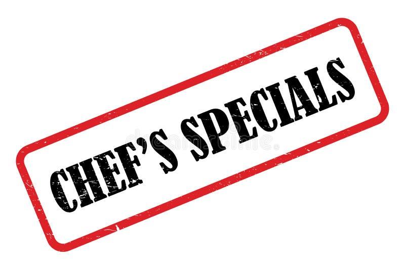 Chef' ejemplo de los specials de s libre illustration