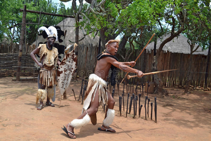 Chef et guerrier de zoulou photographie stock