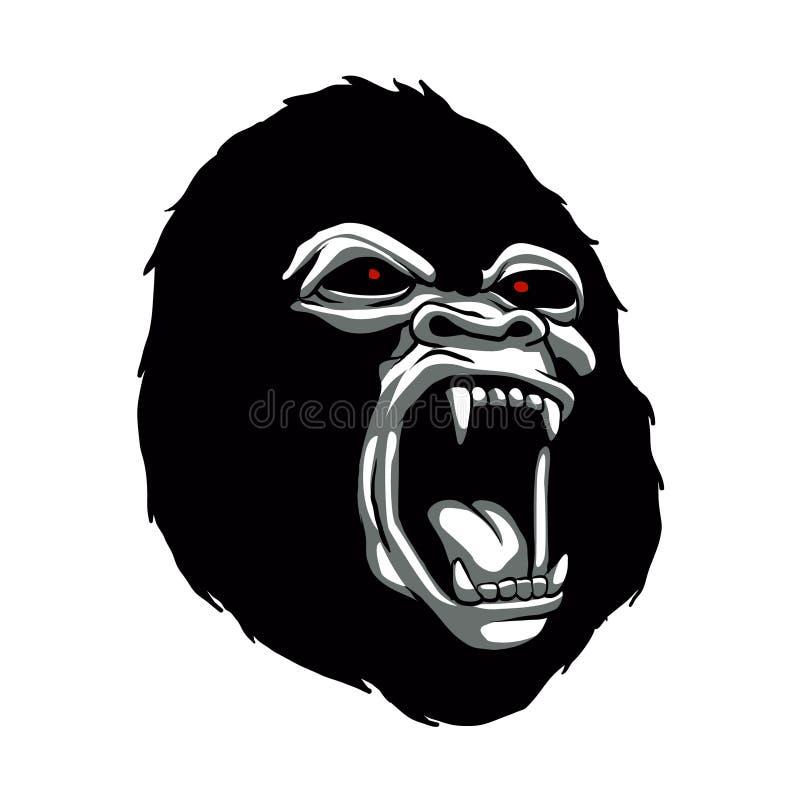 Chef fâché de gorille illustration libre de droits